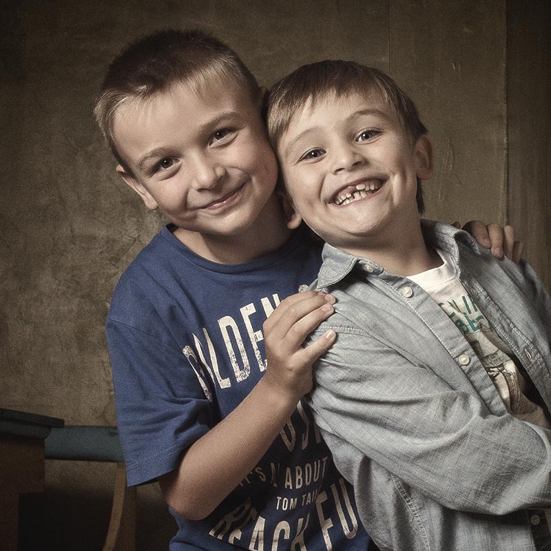 Brüder anlässlich der Einschulung